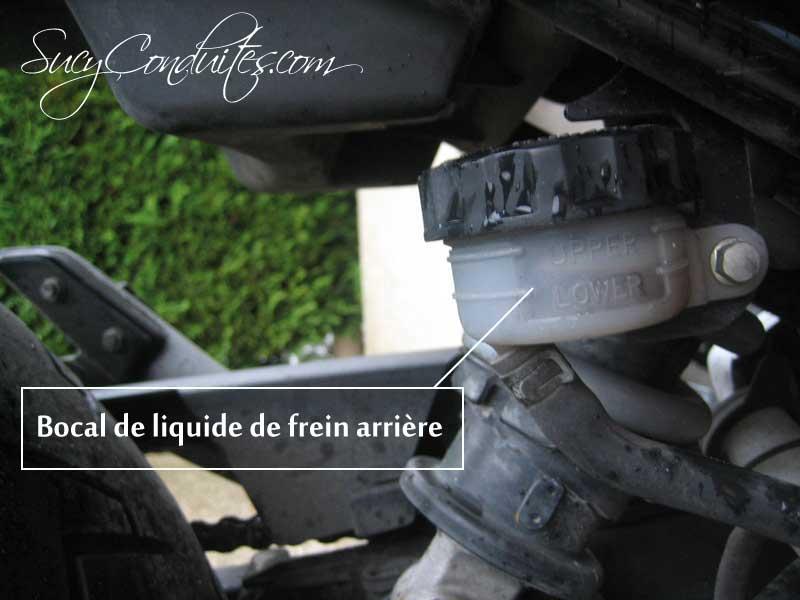 Niveau liquide frein arrière